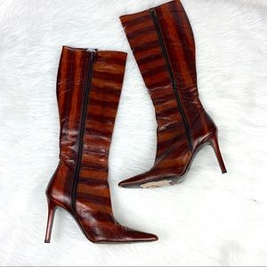 Colin Stuart Leather Heeled Boots